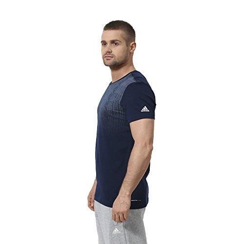 Da uomo adidas Essentials Fab5 T-Shirt Blu - blu scuro