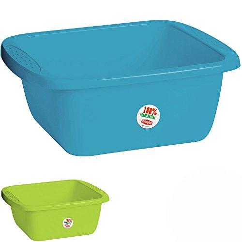 Waschschüssel, Kunststoff, 38 x 34 x 15 cm ,10 L, versch. Farben: Spülschüssel Plastikschüssel Schüssel Camping Spüle
