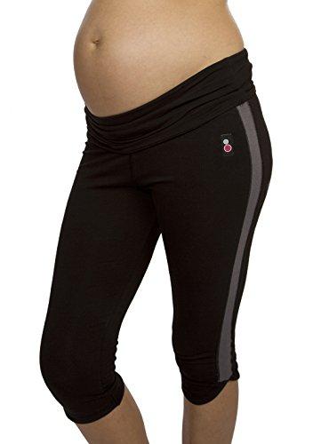 FittaMamma Supportive three quarter maternity exercise leggings, Small