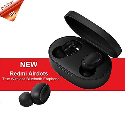 Redmi Airdots Auriculares, TWS Bluetooth 5.0 Auriculares Estéreo Bajo Auricular Inalámbrico Caja de Sonido Estéreo Mini Auriculares, Bluetooth Auriculares Antitranspiración IPX4 con Micrófono