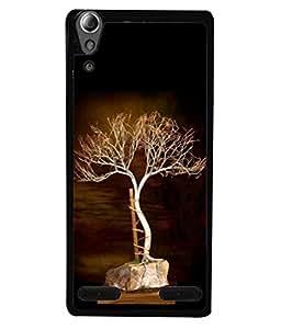 PrintVisa Designer Back Case Cover for Lenovo A6000 Plus :: Lenovo A6000+ :: Lenovo A6000 (Tree In White Roped Against A Pole)