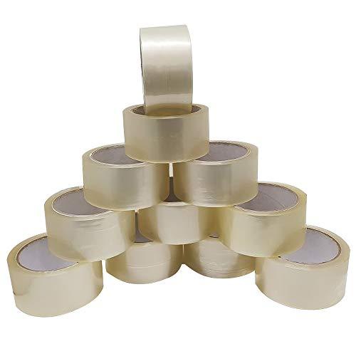 Spetan 6 Rollen Klebeband Paketband 66m x 48mm PP Packband Paketklebeband Kleberolle Verpackungsband Transparent extra stark und Klebrig