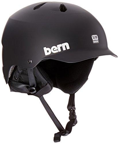 bern-mens-watts-eps-with-8-tracks-audio-liner-helmet-matte-black-large-x-large