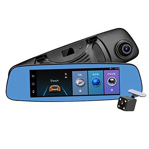 Ahomi 19,1 cm FHD 1080P Auto DVR Kamera, Android 5.1, 1,3 GHz Quad Core Drive Recorder, GPS, Rückspiegel, Bluetooth, Mikrofon, Dual Linse, 4G Wifi Dashcam