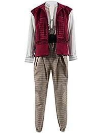 2019 Film Aladin Kostüm Herren Halloween Karneval Fasching Cosplay Party Jacke Hose Hemd Kostüm Outfit