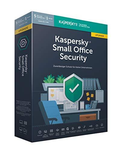 Kaspersky Small Office Security 6 Upgrade ,Standard, 5 Geräte, 5 Mobil, 1 Server, 1 Jahr, Windows/Mac/Android/WinServer, für kleine Unternehmen, PC/Mac, Box -