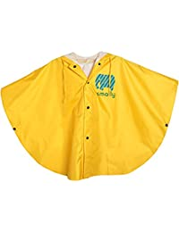 GudeHome Unisexo niño Impermeable Niñas Niños con capucha impermeable de la lluvia del poncho