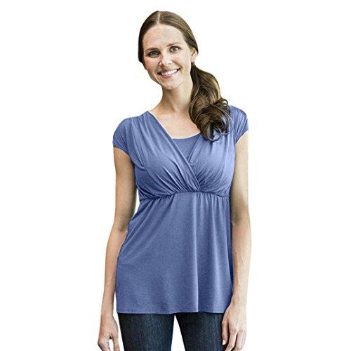 IMJONO Damen Günstige Blau Moderne Preis Shirt Festliche Karohemd Rotes Kurzarmhemd in Signum Günstig Leichte sommerhemden Gestreift Smaragdgrün Winter Grün im (EU-40/CN-XL,Blau) (Herz Netz-mini-kleid)