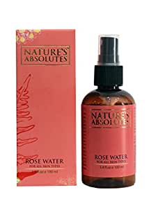 Nature's Absolutes Rose Water for All Skin Types, 100ml