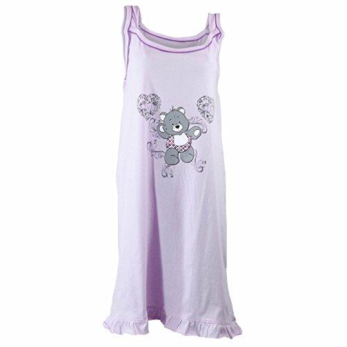 Damen Träger Nachthemd dünn und sommerlich in verschiedenen Farben und Größen Violett