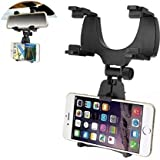 Suroskie Universal Car Rear-View Mirror Mount Holder Stand for Mi One Plus 5T & iPhone X Mobile