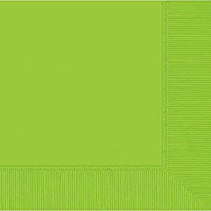 Amscan International Lunch Napkin S/C Hitch 2 Ply (Kiwi Green)Pack of 50