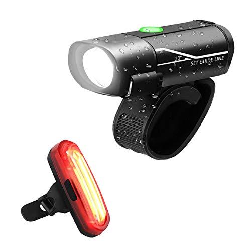 Barlingrock 2019 Nuovo Faro per Bicicletta Ricaricabile USB - Powerful Luce Anteriore a LED per Bicicletta - Lumens ad Alta Potenza per un'eccellente Sicurezza in Bicicletta - Impermeabile