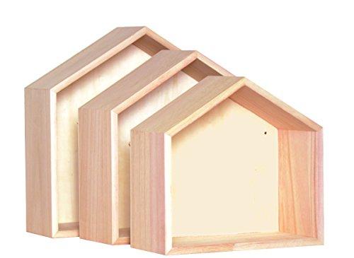 Artemio-14001561-Set-de-3-tagres-Maison–Dcorer-Plastique-Multicolore-30-x-10-x-30-cm