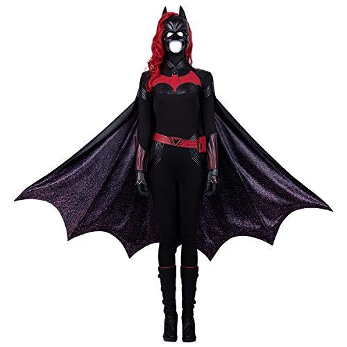 Von Kostüm Bilder Batgirl - QWEASZER Dark Knight Superheld Batwoman Kostüm Damen Batgirl Kostüm Adult Bodysuit Onesies Halloween Movie Game Cosplay Kostümfest Kostüm Requisiten,Black-XXXL