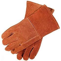 GG-Industrial gloves Leder Arbeitshandschuhe für Gartenarbeit, Hofarbeit, Bauernhof, BAU, Lager, Motorrad, Männer & Frauen
