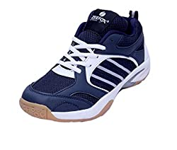 ZEEFOX 3300F Mens PU Badminton Shoes Navy Blue (8)