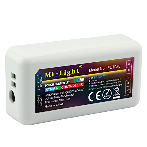 LIGHTEU®, WiFi Controller Box Bridge iBox2 Nuove versioni Dimmer Wireless per Mi Light Series RGBW WW / CW RGB + CCT Led Lampadina Luce da incasso Luce da incasso Compatibile con IOS Iphone Ipad e sis RGBW WiFi control