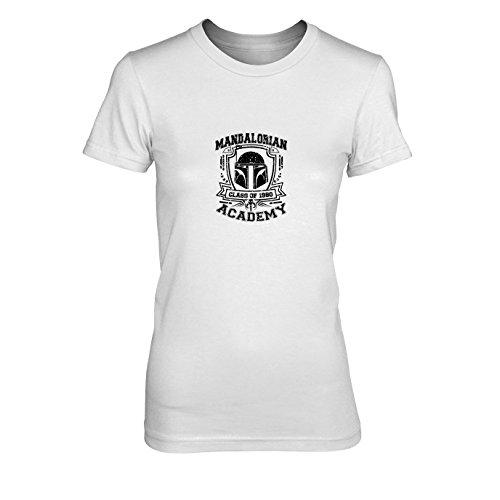 emy - Damen T-Shirt, Größe: XL, Farbe: weiß (Star Wars Mandalorian Kostüme)