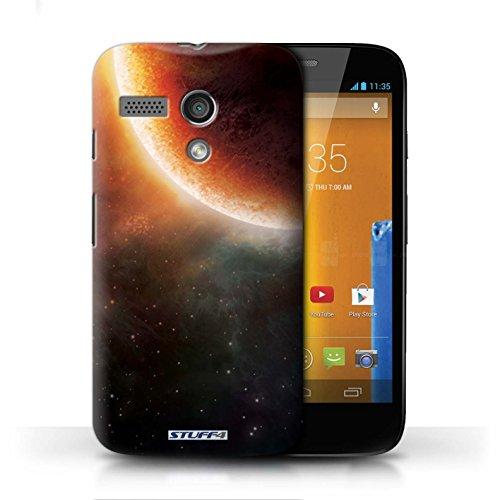 Kobalt® Imprimé Etui / Coque pour Motorola MOTO G (2013) / Planète Orange conception / Série Cosmos Éclipse Orange