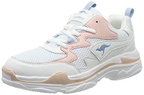 KangaROOS Damen Wave Sneaker, Rot (Frost Pink/White 6159), 42 EU