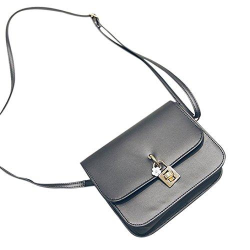 BZLine® Frauen Vintage Casual Handtaschen Women Clutch Party Tasche Umhängetasche, 19cm *15.5cm *6cm (Lila) Grau
