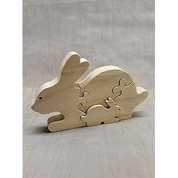 LovelyWoodArt – Handgefertiges Holz-Puzzle Hase