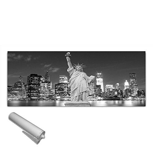 Unbekannt DEKOGLAS Küchenrückwand Glas \'Freiheitsstatue New York\' Herdblende aus Sicherheitsglas (ESG) 125x50 cm Spritzschutz Fliesenspiegel
