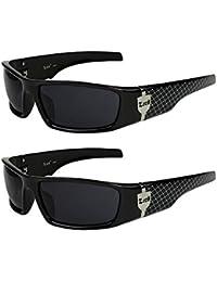 2er Pack Locs 9069 Sonnenbrillen Motorradbrille Sportbrille Radbrille in der Farbe schwarz