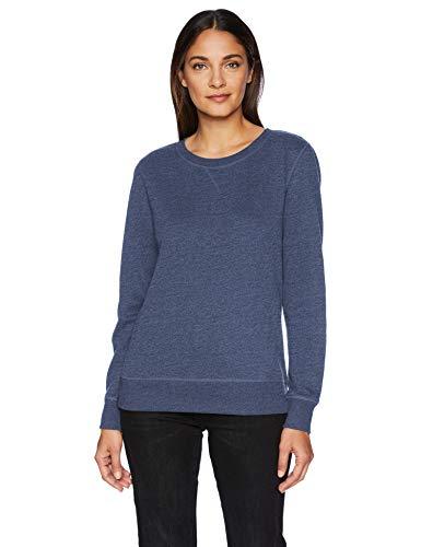Amazon Essentials French Terry Crewneck Sweatshirt, navy heather, US XXL (EU 3XL-4XL) (Amazon Frauen Pullover)