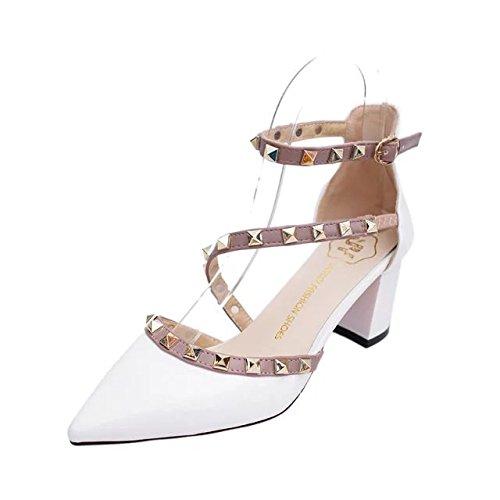 damen in high heels, sommer sandalen, schuhe mit absätzen, frauen - heels 36