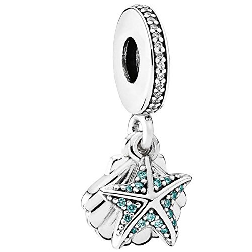 Pandora Moments Seestern & Muschel Charm-Anhänger Sterling Silber, Cubic Zirconia 792076CZF