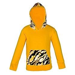 Gkidz Girls Hooded Full Sleeve Sweatshirt with Kangaroo Pockets