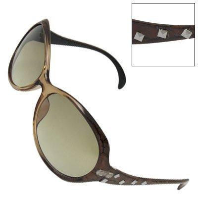 sourcingmap® Colorato, da donna, con borchie in plastica-Occhiali da sole, multicolore