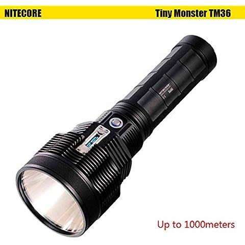 Nuovo Nitecore TM361100m 8Modalità Display OLED Batteria Torcia LED