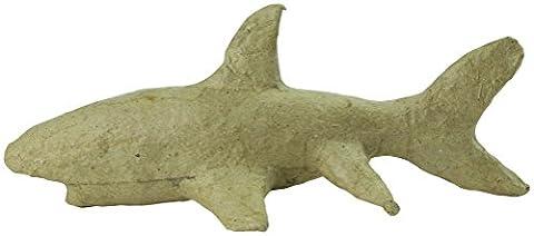 Decopatch Mache Small Shark, 17x8x7cm - Brown