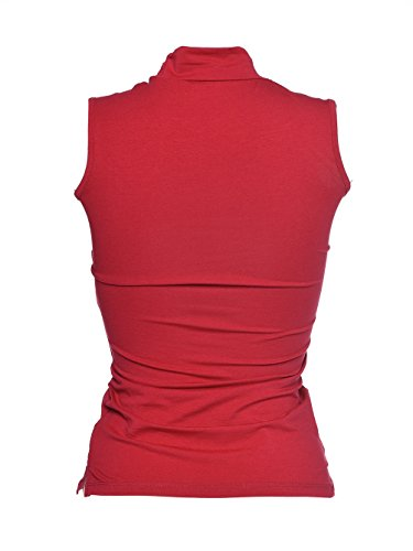 Blooming Jelly Damen Turtleneck Sleveless Tank Tops Rot