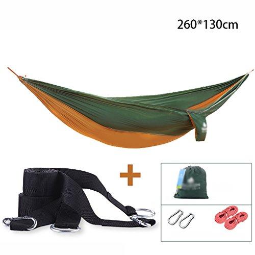 LPYMX Hamac de tissu de parachute, hamac de voyage de camping, hamac portatif, (Couleur : A)