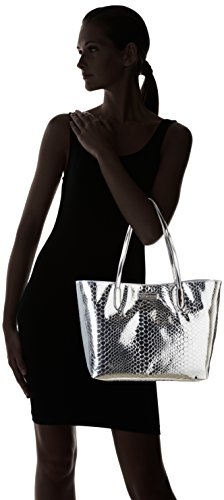 Love Moschino JC4302PP03KO Sac Shopper Femme Argent (Silver)