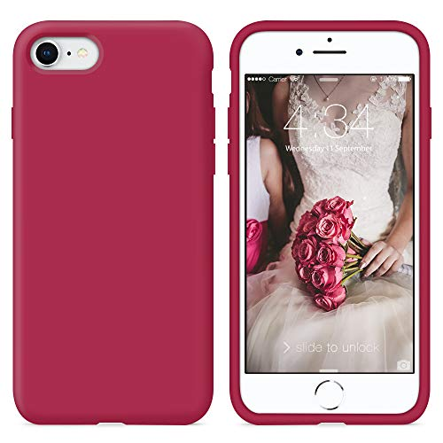 Surphy cover iphone 8, cover iphone 7, custodia iphone 8 7 silicone slim cover antiurto con morbida microfibra fodera, ultra sottile cover case per iphone 8 iphone 7 4.7 pollici, porpora-full