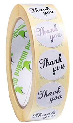 1000 Aufkleber Danke Weiße Thank You Aufkleber Runde Etiketten Größe 25mm