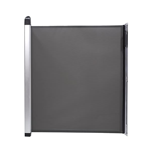 Lascal KiddyGuard Avant Baby Safety Gate Black Lascal Safety Gate discètes on easy to use one handed The curtain can extends to protect any space up to 120cm wide and 80cm height Designed to withstand an impact of 100kg 1