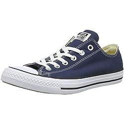 Converse Chuck Taylor All Star Season Ox, Zapatillas de Tela Unisex Adulto, Azul, 38 EU