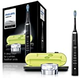Philips Sonicare DiamondClean  3rd Generation Electric Toothbrush, Black Edition (UK 2-pin Bathroom Plug with USB Travel Charger)