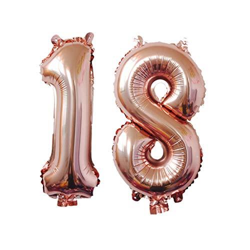EVA Dekoration Latex Ballon Rose Gold Folie Digitale Luftballons für Geburtstagsfeier(40 Zoll)