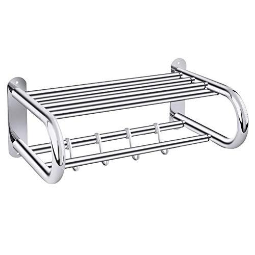 MUBMU Badezimmer-Gestell dünn, Wandbehang-Speicher-Gestell-rostfreier Duschwagen für Hotel - Form Faktor Speicher