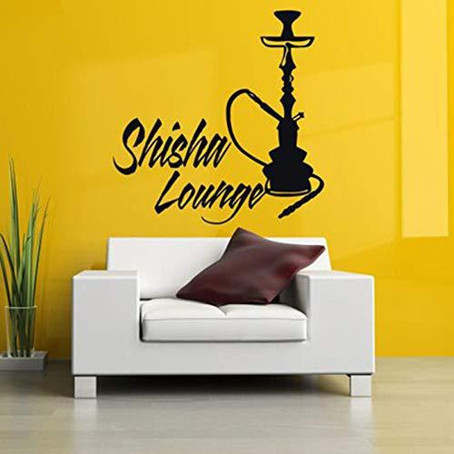 Vinyl Aufkleber Wandtattoo Wall Decor Poster Kunst Shisha Shisha Wasserpfeife House Cafe Smoke Shop Shop Außenschild 42x42cm