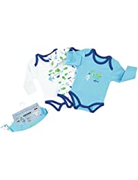 "Jacky Baby - Jungen Body langarm 3er-Pack ""funny fishes"" 151683"