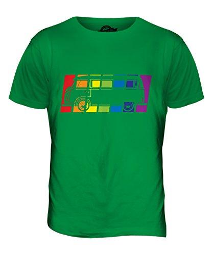 CandyMix Wohnmobil Regenbogen Herren T Shirt Grün