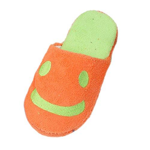 chaussons-femme-reaso-beau-sourire-accueil-sol-stripe-doux-chaussures-38-orange